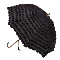 FIFI Frill Umbrella Black