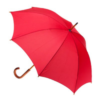Manual Wood Umbrella Red