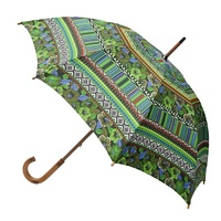 Manual Wood Umbrella Aztec Green