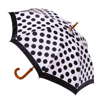 Manual Wood Umbrella Polka Dots