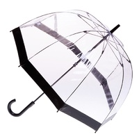 Clear Birdcage Umbrella with Black Trim
