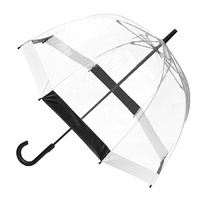 Clear Birdcage Umbrella with Black & White Trim