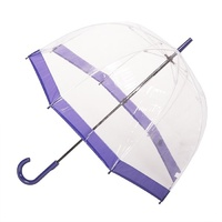 Clear Birdcage Umbrella with Purple Trim