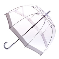 Clear Birdcage Umbrella with Silver Trim