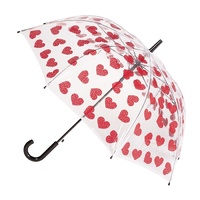 Automatic PVC Umbrella Hearts