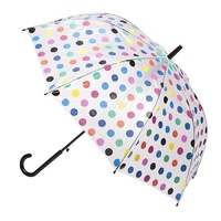 Deluxe Automatic PVC Umbrella Multi Coloured Spots