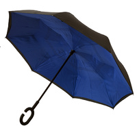Outside-In Inverted Umbrella Black/Blue