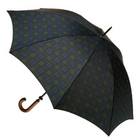 Men's Large Cover Umbrella Tartan Black Watch
