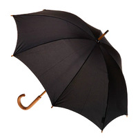 Manual Wood Umbrella Black