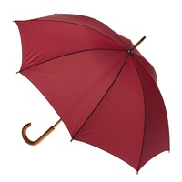Manual Wood Umbrella Burgundy