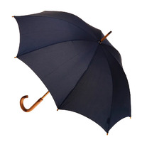 Manual Wood Umbrella Ink Navy