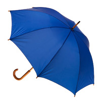 Manual Wood Umbrella Royal Blue