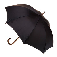 Men's Automatic Wood Umbrella Black