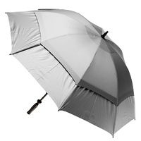 Hurricane Double Cover Golf Umbrella Silver Coated