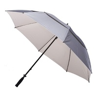 Windpro Silver Coated Golf Umbrella White Under