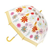 Children's Clear Birdcage Umbrella Daisies