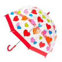 Children's Clear Birdcage Umbrella Hearts