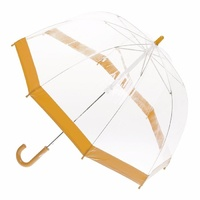 Children's Clear Birdcage Umbrella with Orange Trim