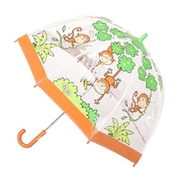 Children's Clear Umbrella Monkey