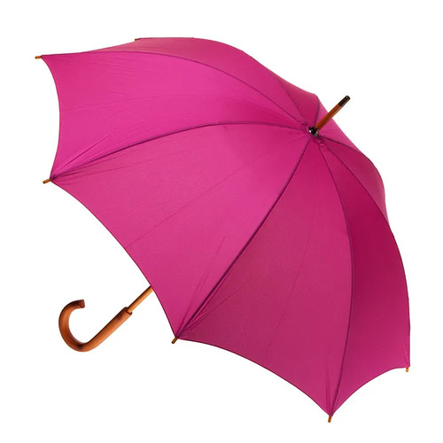 Manual Wood Umbrella Fuschia