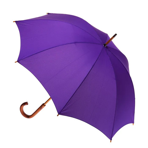 Manual Wood Umbrella Purple