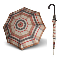 Doppler Carbonsteel Umbrella Woven Check Zwei