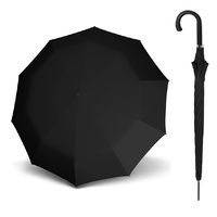 Doppler Carbonsteel Long Automatic Umbrella Black