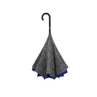 Doppler Crazy Inverted Umbrella Pattern Blue