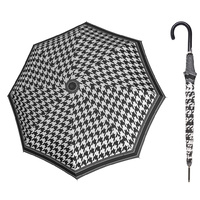 Doppler Fiber Flex Umbrella Black & White