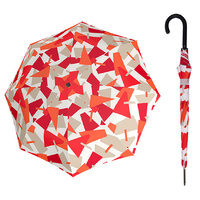 Doppler Fiber Automatic Crush Umbrella Red - UV
