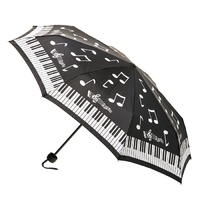 Deluxe Mini Maxi Manual Umbrella Piano Music