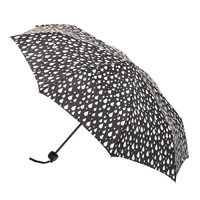 Deluxe Mini Maxi Manual Umbrella Raindrops