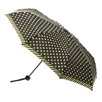 Alu Lite Umbrella Mustard and White Spots