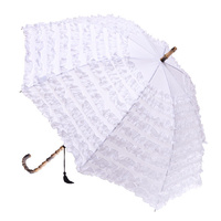 FIFI Frill Umbrella White