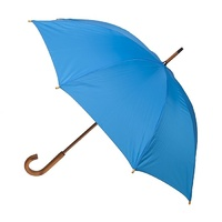 Manual Wood Umbrella Blue