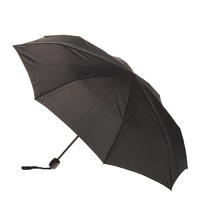 Deluxe Mini Maxi Manual Umbrella Black