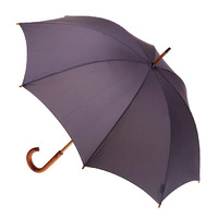 Manual Wood Umbrella Charcoal