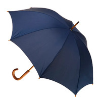 Manual Wood Umbrella Navy
