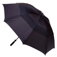 Windpro Vented Black Golf Umbrella