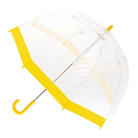 Children's Clear Birdcage Umbrella with Yellow Trim