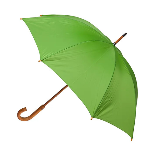 Manual Wood Umbrella Green