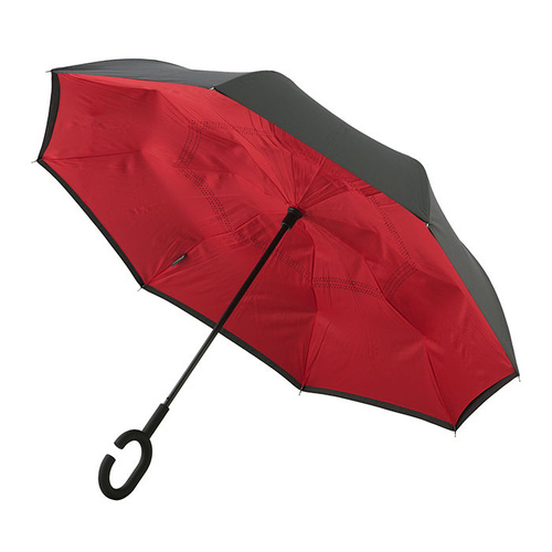 Outside-In Inverted Umbrella Black/Red